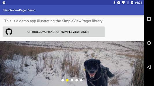 SimpleViewPager Demo screenshot 1