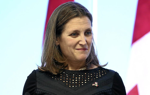Canadian Foreign Minister Chrystia Freeland. Picture: REUTERS