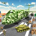 Army Cargo Plane 3D icon