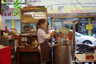 Photo: About to enjoy a coffee after an all night bus from Bangkok to Chiang Mai