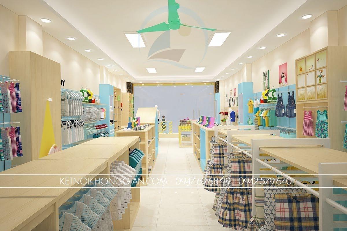 thiết kế cửa hàng thời trang trẻ em sáng tạo