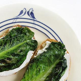 Braised Romaine Lettuce Crostinis.