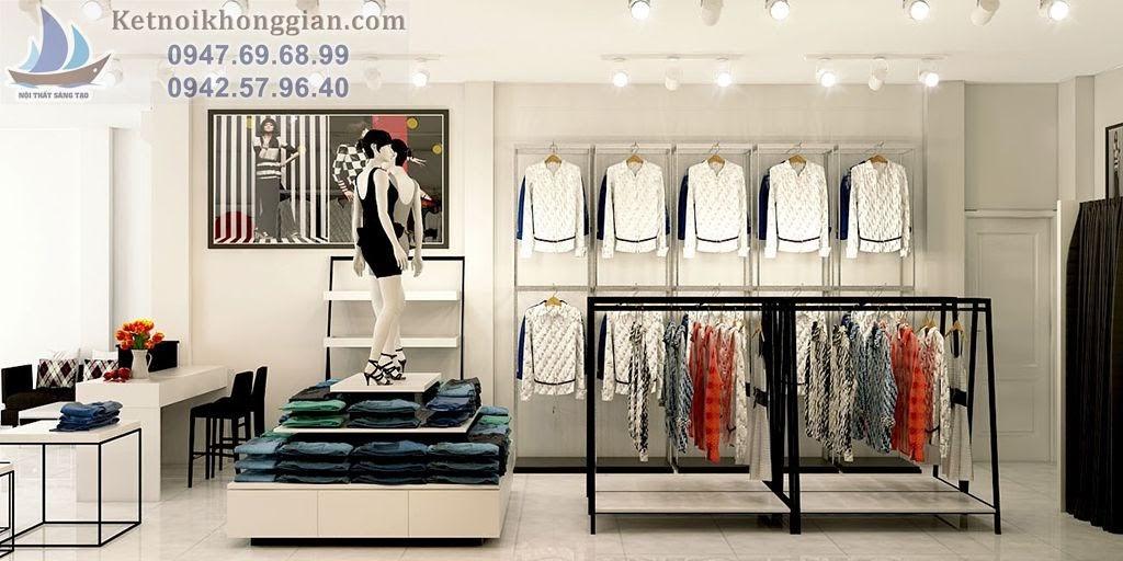 thiết kế cửa hàng thời trang trẻ trung, chuyên nghiệp