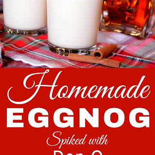 Homemade Eggnog Spiked with Don Q Gran Anejo Rum.