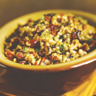 Wild Rice Pilaf with Dried Cranberries and Pecans Recipe