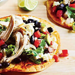 Chicken Tostadas and Avocado Salsa.