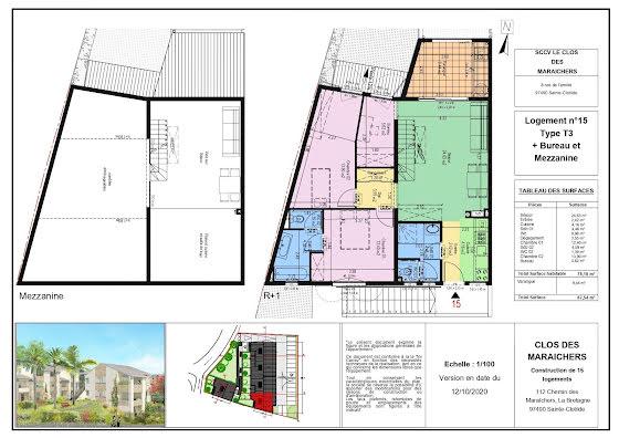 Vente appartement 3 pièces 78,1 m2