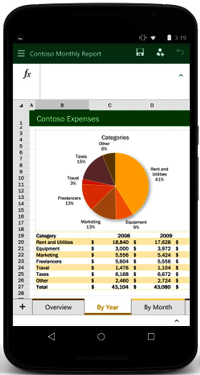 O que é o Excel para Android?