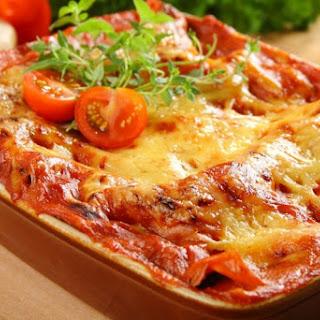 Ratatouilleauflauf mit Mozzarella