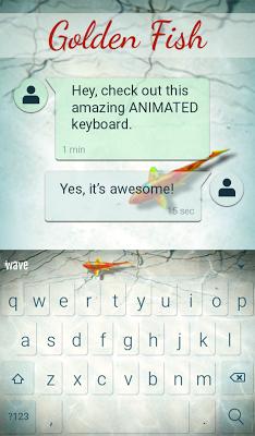 Golden Fish Animated Keyboard - screenshot