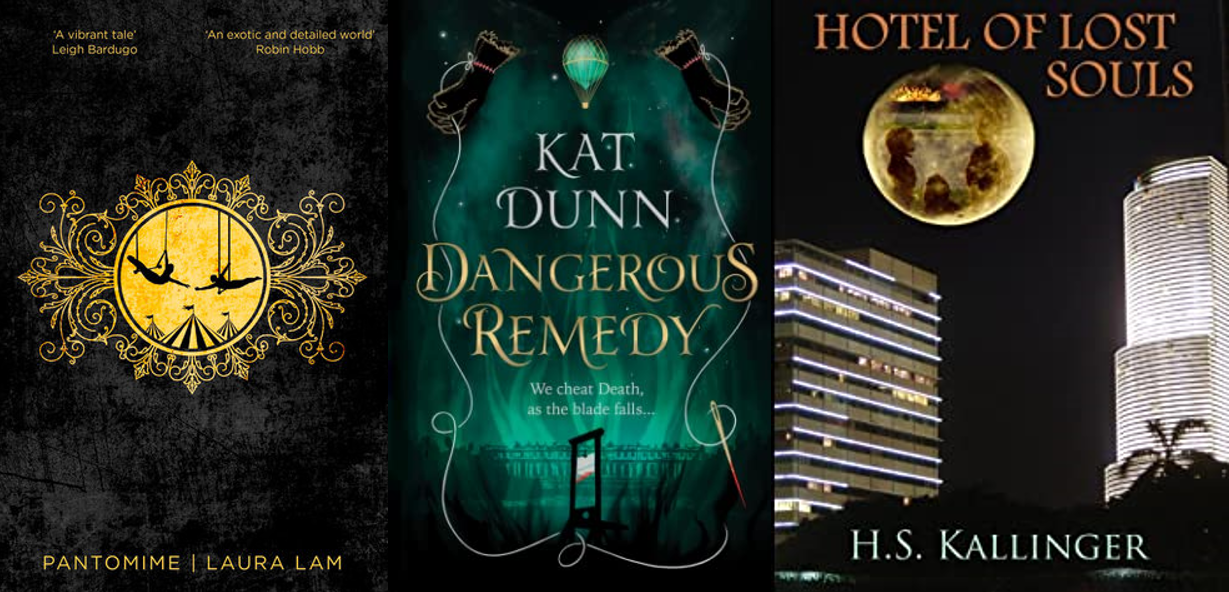 Three LGBT+ books' covers