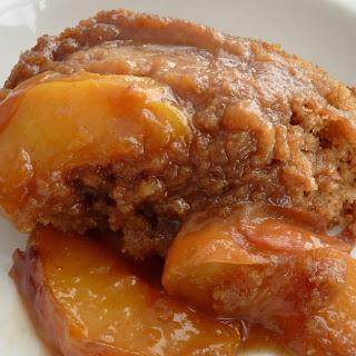 Brown Butter Peach Sauce Cake.