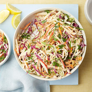 Lemony Coleslaw with Apples