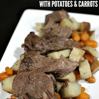 Slow Cooker Italian Roast Beef with Potatoes & Carrots