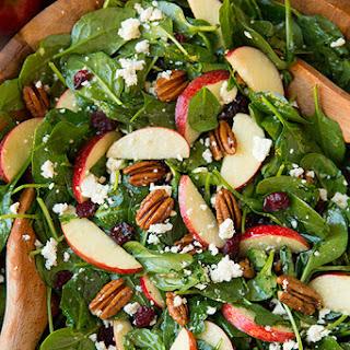 Apple Pecan Feta Spinach Salad