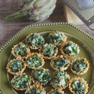 Spinach Artichoke Phyllo Cups