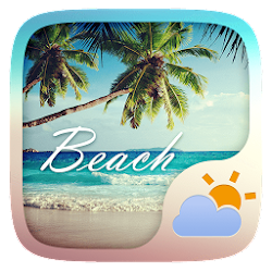 Beach GO Weather Widget Theme