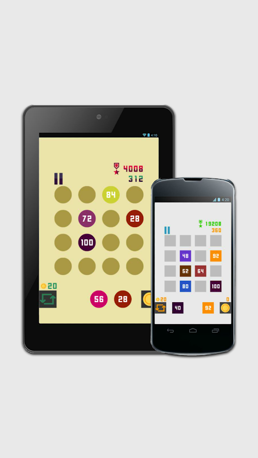 4x number puzzle- screenshot