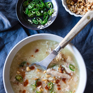 Instant Pot Asian Chicken and Rice Soup Recipe