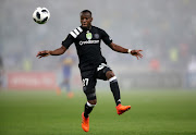Justin Shonga of Orlando Pirates during the Nedbank Cup, Last 16 match between Cape Town City FC and Orlando Pirates at Cape Town Stadium on March 14, 2018 in Cape Town, South Africa.