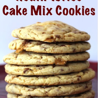 Heath Toffee Cake Mix Cookies