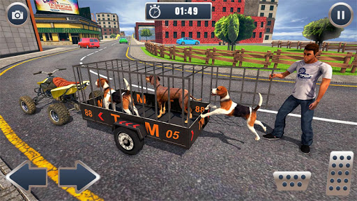 ATV Bike Dog Transporter Cart Driving: Dog Games 1.16 screenshots 1