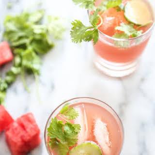 Watermelon-Cucumber Kombucha Coolers (Tequila Optional).