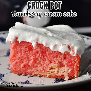 Crock Pot Strawberry Cream Cake