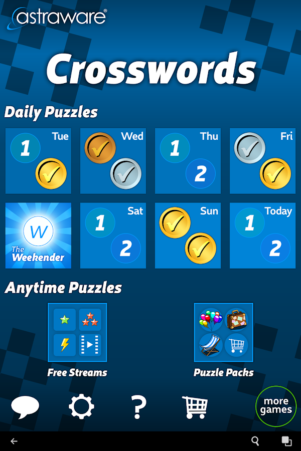 Astraware Crosswords- screenshot