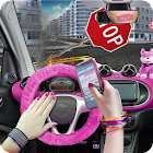 Driving Blonde in Car 3D in City Simulator icon