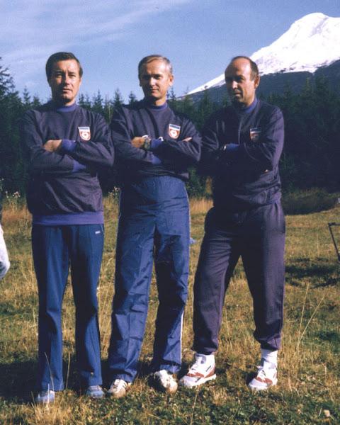 Photo: World ARDF CSSR 1990. Vlah Djordjo - Sarkezi Arpad - Petrovic Drago