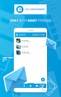 Lite Messenger Tele:無料通話&チャット