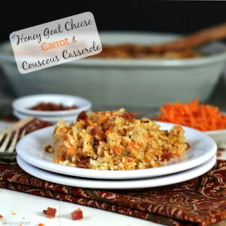 Honey Goat Cheese Carrot & Couscous Casserole