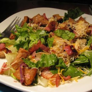 Wilted Caesar Salad With Red Onion and Ham