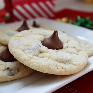 Chocolate Chip Sugar Kiss Cookies.