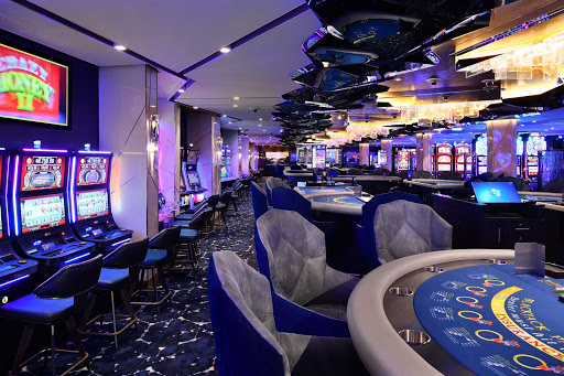 celebrity-edge-casino.jpg -  Try your hand at the slots, blackjack or other games of chance at Celebrity Edge's casino.