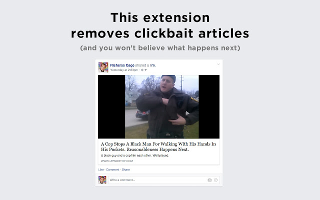 Clickbait Remover for Facebook
