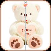 Teddy bear Zipper Screen Lock