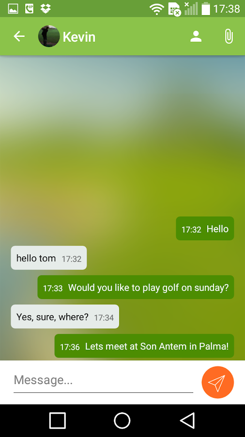 Golfmotion App – Screenshot