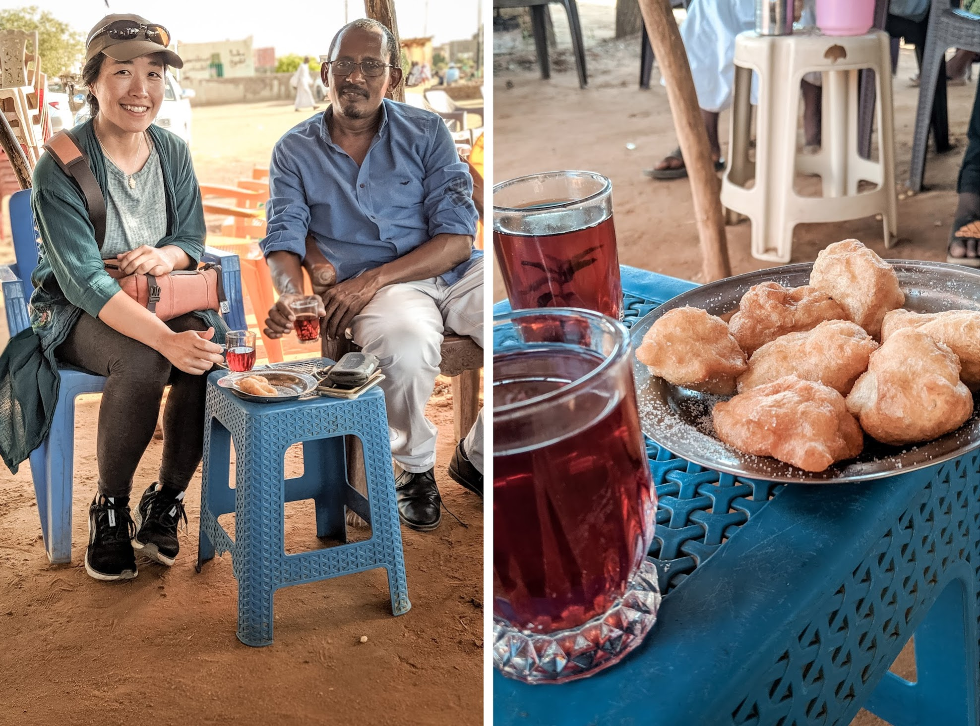 Tea and snacks in Sudan