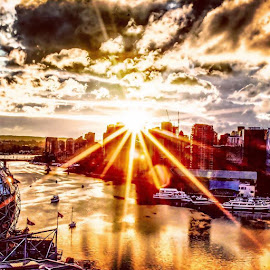 Gorgeous sunset over False Creek.,, by Bryon D. Grove - Landscapes Sunsets & Sunrises ( sunset, sunrise, goldenhour, goldenlight )