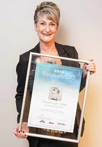 Sandra La Bella, winner of the Visionary CIO title at the Institute of Information Technology Professionals South Africa (IITPSA) Presidents Awards 2019, and Executive of Information Technology, the Unlimited, who presented on the centre stage at the Africa Tech Festival this week.