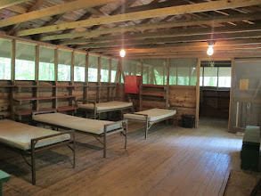 Photo: Omikse Unit House:  This is a non-winterized cabin which can be left empty and used as an open space, or contain beds and used for lodging.  There is a small room adjoining the main space.