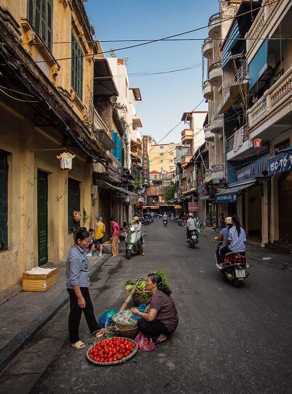 Hanoi Street by Rick Venter - City,  Street & Park  Street Scenes (  )