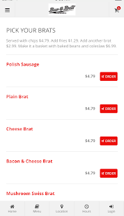 Beer & Brats Online Ordering- screenshot thumbnail