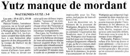 Photo: N2F Wattignies - ASVB 3-0