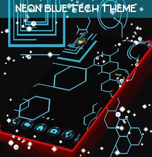 Neon Blue Tech Téma - náhled