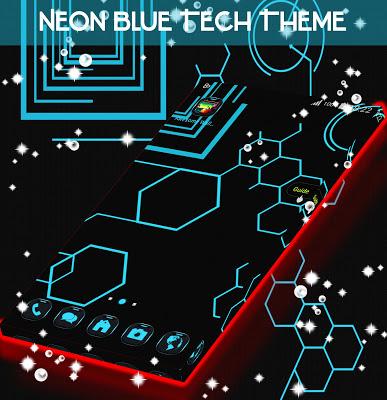 Neon Blue Tech Theme - screenshot