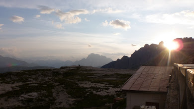 Photo: Sunset at Dreizinnenhutte
