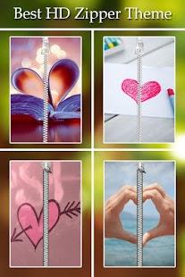 Love Passcode Zipper Lock screenshot